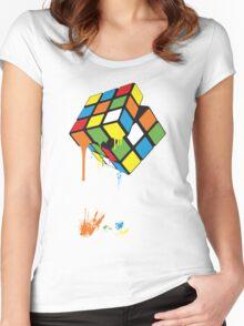 Rubik's Gloop Women's Fitted Scoop T-Shirt
