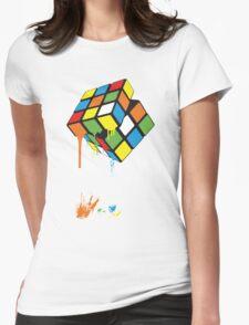 Rubik's Gloop Womens Fitted T-Shirt