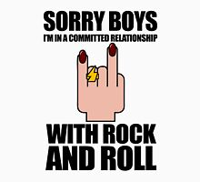 Sorry Boys, I'm In A Committed Relationship - With Rock'N'Roll Womens Fitted T-Shirt