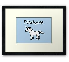Narhorse (Unicorn) Framed Print