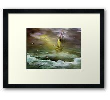 High Seas Navigation Framed Print