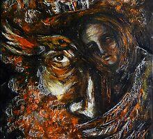 """""""Gallo and tree spirit"""" by Tatjana Larina"""