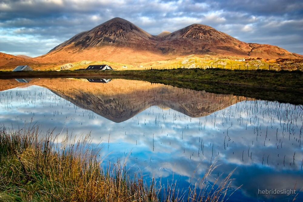 Red Cuillin Reflection by hebrideslight