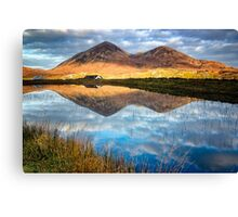 Red Cuillin Reflection Canvas Print