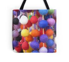 COLOURED COTTON BOBBLES NOW AVAILABLE ON THROW PILLOWS Tote Bag