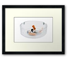 Astray with Cigarette Butts Framed Print