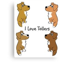 I Love Tollers! Canvas Print