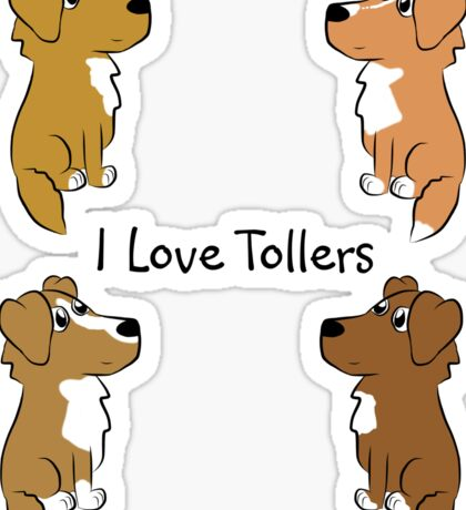 I Love Tollers! Sticker