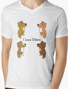 I Love Tollers! Mens V-Neck T-Shirt
