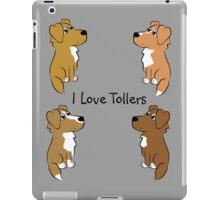 I Love Tollers! iPad Case/Skin