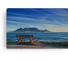 Benched View Canvas Print