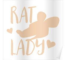 RAT LADY (in cream colour) Poster
