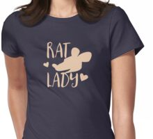 RAT LADY (in cream colour) Womens Fitted T-Shirt