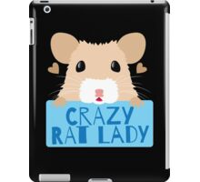CUTE crazy rat lady (in cream colour) iPad Case/Skin