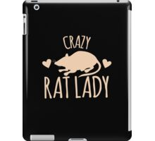Crazy Rat Lady (in cream colour) iPad Case/Skin