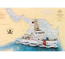 USCGC Baranof Nautical Chart Map Cathy Peek Photographic Print