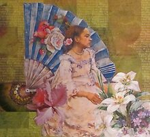 Girl With A Fan by Kanchan Mahon