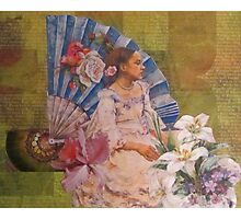 Girl With A Fan Photographic Print