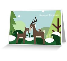 Woodland Deer - Christmas Card Greeting Card