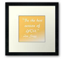 Zoella Quote Framed Print