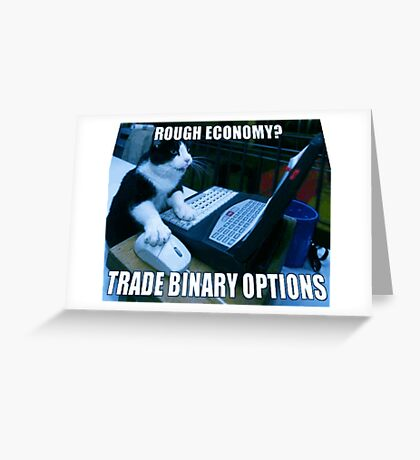 Cat Reads Binary Options News Online Greeting Card