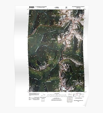 USGS Topo Map Washington State WA Benchmark Mountain 20110428 TM Poster