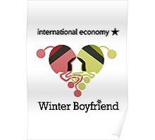 Winter Boyfriend artwork (words) Poster
