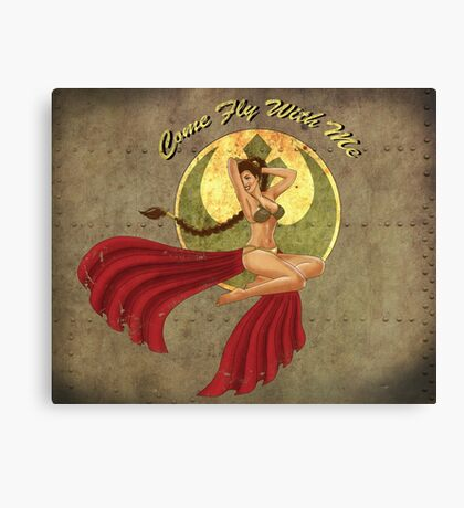 Slave War Pin Up Canvas Print
