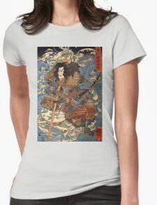 Japanese Print:  Warrior Womens Fitted T-Shirt