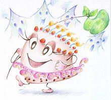 """Illustrazione per """"Storia di una torta"""". by Francesca Romana Brogani"""