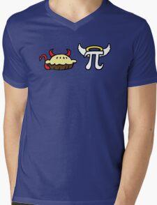 Devil Pie and Angel Pi Mens V-Neck T-Shirt