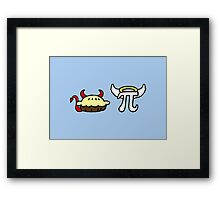 Devil Pie and Angel Pi Framed Print