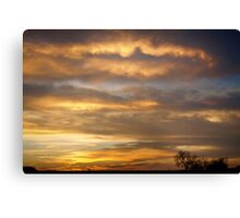 Boulder County Heavenly Sunrise Canvas Print