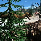 Prehistoric,Tyrannosaurus and Eustreotopondylus. by alaskaman53