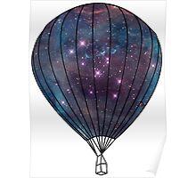 Galaxy Balloon Poster