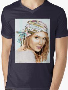 Kylie Minogue - bandana/kerchief (color version) Mens V-Neck T-Shirt