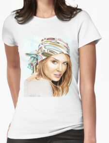 Kylie Minogue - bandana/kerchief (color version) Womens Fitted T-Shirt