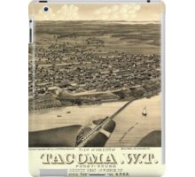 Panoramic Maps View of the city of Tacoma WT Puget-Sound county seat of Pierce Cty 1884 iPad Case/Skin