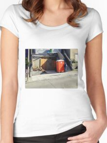 The Orange Leaning Tower of P...uhhh... Women's Fitted Scoop T-Shirt