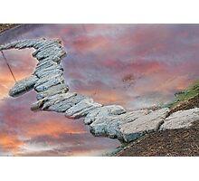 Rock Walkway Sunset Photographic Print