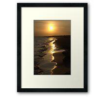 Sunny summer beach sunset Framed Print