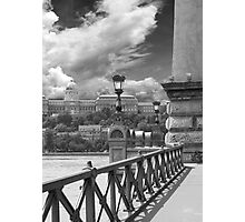 The Chain Bridge. The Danube River in Budapest at night. Number 14 Photographic Print
