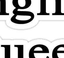 English Queen  Sticker