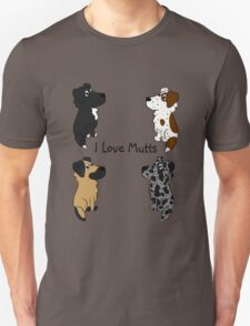 I Love Mutts! Unisex T-Shirt