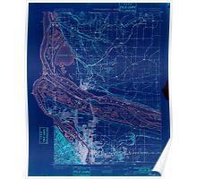 USGS Topo Map Oregon OR Portland 282793 1897 62500 Inverted Poster