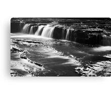 Ayesgarth Falls in Mono Canvas Print