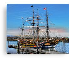 The Fantasy of Tall Ships Canvas Print