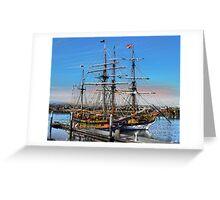 The Fantasy of Tall Ships Greeting Card