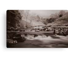 Above Thornton Force in Mono Canvas Print