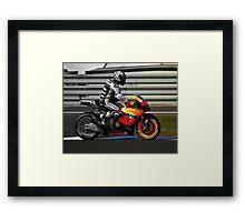 Casey Stoner 2011 - Making history Framed Print